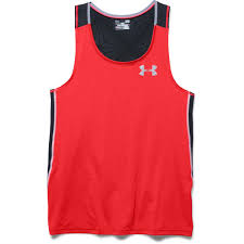 Singlet coolswitch run RedBlk under armour
