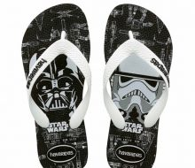 Havainas Thong kids star wars blk whte