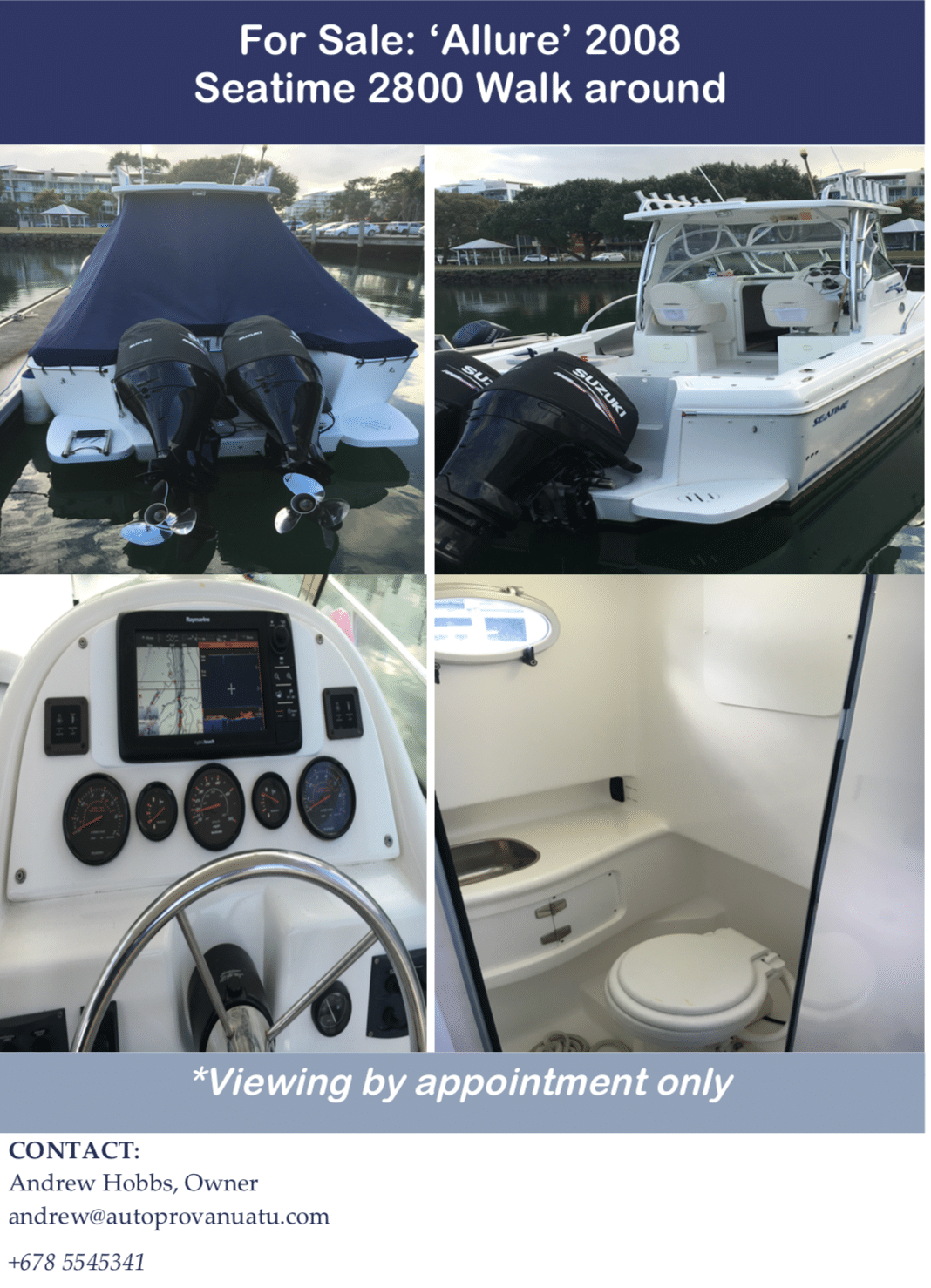 Allure Fishing Boat for Sale 2